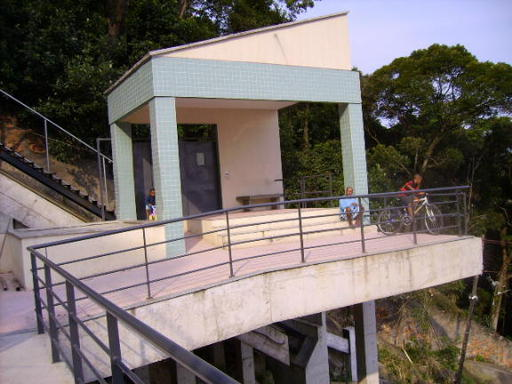Station 3 before the construction of the lower funicular. Dona Marta.