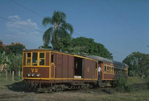Goods motor coach V-2, valley section, passenger train, 1997.