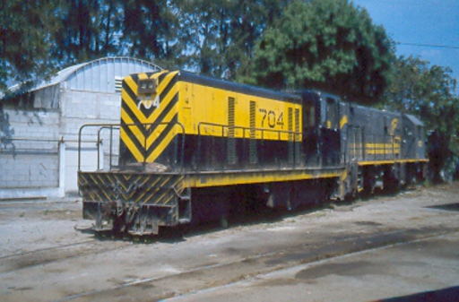 Diesel locomotive 704, Guatemala City.