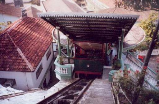 Santos SP, Monte Serrat funicular, lower station.