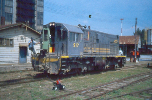 Diesel locomotive 917, Guatemala City.