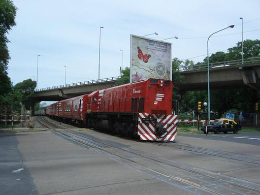 Departure of a train of Ferrovías, Buenos Aires.
