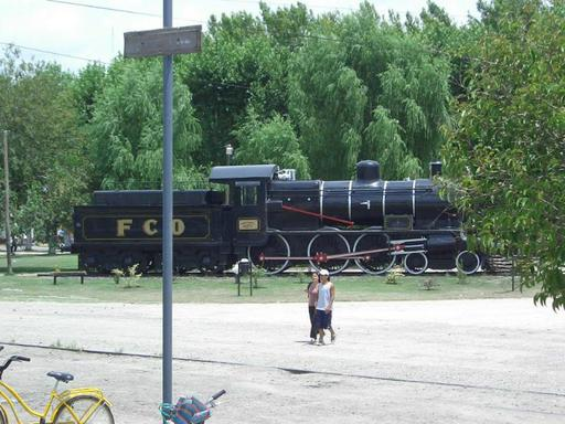 Meeting with steam engine at Marcos Paz.