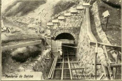 Construction of the tunnel seen from above. Monserrate, Colombia.