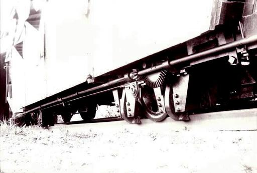 Calliper brake of car No. 6 of the third section Blumatt - Stanserhorn.