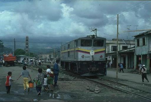 Diesel engine 2406 at Bucay (diesel electric, GEC Alsthom 1992), type AD24, Bo'Bo'Bo'', series 2401 -2409 , Ecuador.