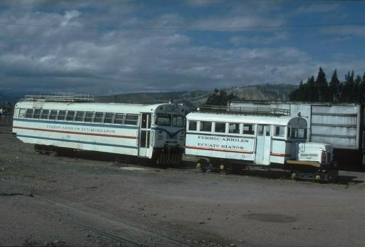 Two autoferros stored at Riobamba, Ecuador.