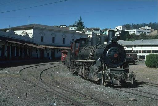 Mountain engine 58 at Quito station, Ecuador.