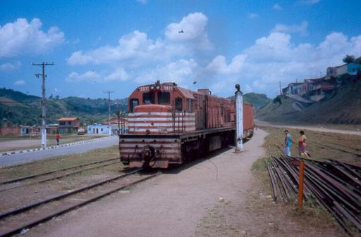 End of the shunting, São Felix, Brazil.