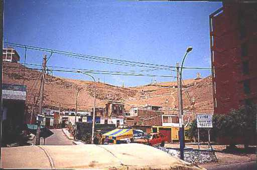 Chorrillos/Lima, funicular, view is above site of old top station.