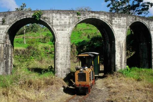 Circular viaduct. Locomotive Diema DL 20, downhill.