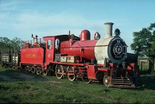 Type photo, steam engine 59, J.L.Oviedo, km 266.